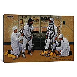 iCanvasART NRL45-1PC3 The Longest Step Canvas Print by Norman Rockwell, 0.75 by 26 by 18-Inch