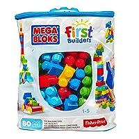 MEGA 美高 拼搭玩具 费雪美高大袋装积木80片原色(新老包装随机发货)