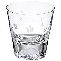 Tajimaglass 田島硝子 玻璃杯 櫻花富士山 TG16-015-RS  (櫻花包裝布)