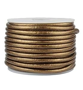 优质圆形皮革绳 金属青铜 3mm RDP30MM10M-METBRONZE