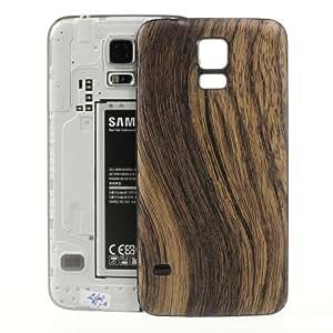 三星 Galaxy S5 G900 棕色木纹皮革涂层电池外壳