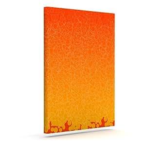 "Kess InHouse Frederic Levy-Hadida""泡红色""户外帆布墙画 20"" x 24"" 红色 FH1005AAC04"