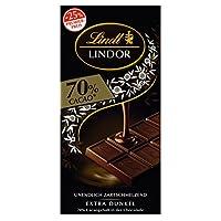 Lindt Lindor Promotiontafel 70%, Extra dunkel, 10er Pack (10 x 100 g)