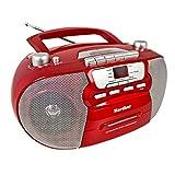 Karcher 凯驰 RR 5040 Oberon 便携式 CD 收音机 (AM / FM 收音机 CD 磁带 AUX 输入 电源/电池供电) 红色 cm