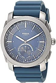 Fossil 男式機械不銹鋼混合智能手表 帶活動跟蹤和智能手機通知
