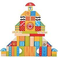 木马智慧 彩色花纹积木玩具 60块 16041