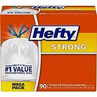 hefty Strong 垃圾袋 ( 加长型穿绳厨房,13加仑 ), RFPE84574, 90份, 1, 1