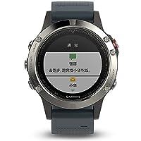 GARMIN 佳明 fenix5 蓝宝石镜面国行中文版 银色 多功能光电心率北斗GPS三星定位手表 运动户外登山骑行游泳跑步智能腕表