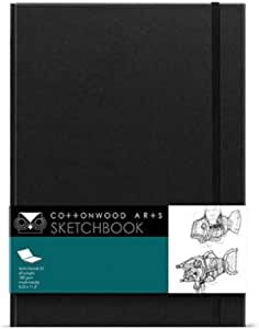 Cottonwood Designer 素描本 8.25X11.5 黑色 1-包每包 1 条 CDD1