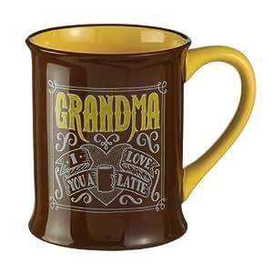 I Love You a Latte - Relationship Coffe Mug -16 Oz. (Grandma) by Grasslands Road