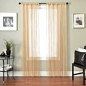 Softline Home Fashions Jazz String Sheer Decorative Window Panel/Treatment with Rod pocket