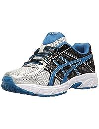 ASICS Kids' Gel-Contend 4 GS Running Shoe Silver/Classic Blue/Black 6.5 M US Big Kid