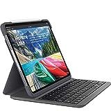 Logitech SLIM FOLIO PRO Backlit Bluetooth Keyboard Case for iPad Pro 11 Inch (Model: A1980, A1934, A1979, A2013, French Layout), Black