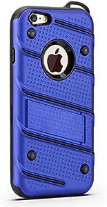 Xelcoy 幻影传奇重型全保护壳带支架,适用于 iPhone 6Plus 6s PlusBolt-iPhone6Plus-Blue 蓝色