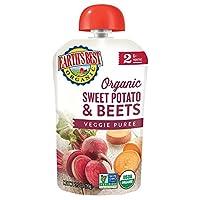 Earth's Best 阶段2幼儿辅食 红薯和甜菜口味 3.5盎司(99g)12袋 (包装可能有所不同)