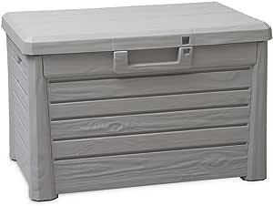TOOMAX Art. 158 可坐戶外收納箱 Florida,73 x 50.5 x 46.5 厘米,灰色