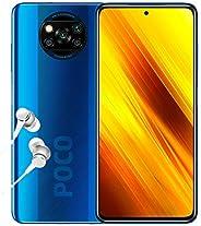 POCO X3 NFC - 智能手机 6 + 128GB,6.6 英寸 FHD + 打孔显示屏 Snapdragon 732G 64MP AI Penta-Camera 5160mAh,钴蓝色(英国官方版 + 2 年保修
