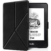 柏图 轻薄折叠式支架保护套 适用于Kindle Paperwhite电子书阅读器(1代、2代、3代均可适用)KPW3保护壳 全新Kindle Paperwhite3保护套(内附贴膜套装)K5-10 玛瑙黑