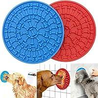 ANTOBLE 狗狗慢速分配*垫,狗狗舔垫花生酱垫/耐用硅胶分散装置带强力吸力狗舔垫,慢速喂食器舔垫 - 2 件装