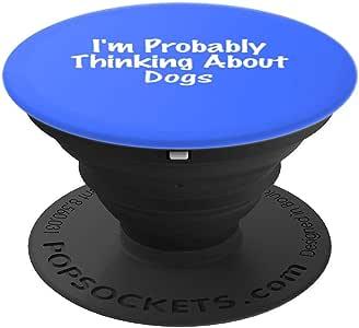 可能思考狗狗 - 犬类礼物创意 - PopSockets 手机和平板电脑握架260027  黑色