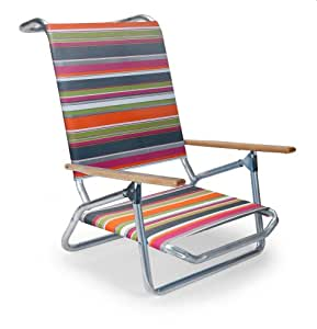 Telescope Casual Light and Easy Low Boy Folding Beach Arm Chair Techno Stripe