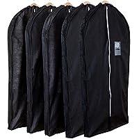 アストロ マチ付スーツ用カバー ブラック 5枚組 湿気・ホコリ・カビ対策 洋服カバー 厚手のものやシルエットの気になるフォーマルの保管に最適 110-45