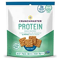Crunchmaster - 蛋白质快餐薄脆饼干海盐 - 3.54 盎司