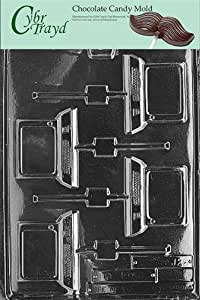 Cybrtrayd Life of the Party J026 Computer Desktop Lolly Chocolate Candy Mold in Sealed Protective Poly Bag Imprinted with Copyrighted Cybrtrayd Molding Instructions