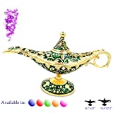 ZeeMoe Legend Aladdin Magic Genie 灯盆经典色黄铜阿拉丁神灯香烛 *和金色 常规