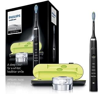 Philips 飞利浦 Sonicare DiamondClean 电动牙刷,2019年版,黑色(英国2针浴室插头,带USB旅行充电器)