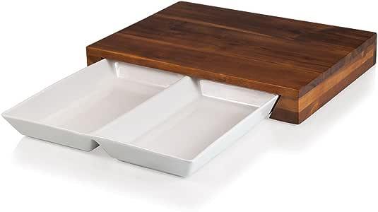 Picnic Time Fabio Viviani Campagno 裁切板和餐具套装 棕色 大 965-00-506-000-9