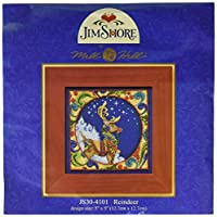 Mill Hill Jim Shore Reindeer Counted Cross Stitch Kit, 5 by 5-Inch