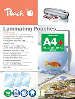 Peach S - PP 580 – 21层合层 A4, 80 MIC, 光泽, abheftbar, 100件