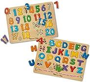 Melissa & Doug 有声拼图套组:数字和字母木制