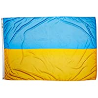 Annin Flagmakers 尼龙太阳能防护帽 纽约热洛克乌克兰旗帜 4x6' 221646