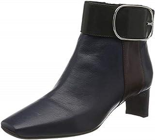 Geox 女士 D Vivyanne 中帮 C 及踝靴 Blue (Blue/Dk Burgundy C4e7j) 4 UK