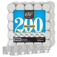 Ohr 茶蜡烛 - 50 个散装包 - 白色无香型旅行,*装饰蜡烛 - 4 小时燃烧时间 - 挤压蜡 白色 unknown