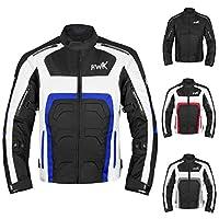 男式纺织摩托车夹克双运动耐力摩托车骑行夹克透气 CE ARMORED 防水 XX-L 蓝色 HHR-Tex-Blue-XX-Large
