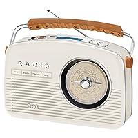 AEG NSR 4377 复古-立体声磁带收音机 配CD/MP3/USB 配磁带播放器 奶油色