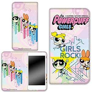 POWER Puff 女孩 壳 手册式 两面印刷 手册 设计BWN-LC540345-LL 3_ Galaxy A8 Plus SM-A730F/DS デザインB-D