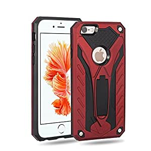 iPhone 6/6S 手机壳,Areion 支架双层保护混合保护套,带 TPU PC 硬壳,防震外壳,适用于 iPhone 6/6S(4.7 英寸) 红色