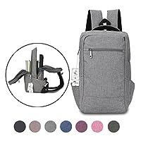 笔记本电脑背包,Winblo 15 15.6 英寸大学背包轻量旅行背包backpack-grey 大