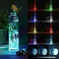 *潜水台灯,带遥控射频,吸盘,13 个 LED 潜水灯 防水 IP68,LED 水下灯 50 米/164 英尺,颜色变化池塘灯,电池供电 LOFTEK 3 件装 03-20LDUS-478-010115FBA1001