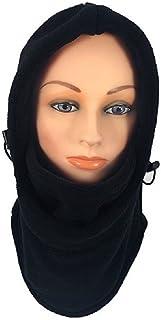 ICON Sportswear 中性款抓绒巴拉克拉法帽滑雪帽连帽面罩防风防护颈围(黑色)