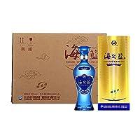 洋河蓝色经典 52度海之蓝酒480ml*6 整箱装(原厂包装未拆封,送3只礼品袋 单瓶ASIN:B007QHK4VK)