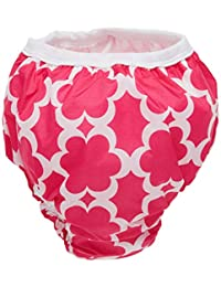 Kushies 婴儿防水训练裤(22-29 磅),灰色,小号 Fuchsia Modern Flowers X大码