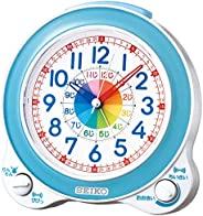 Seiko 精工 臺式時鐘 01:藍色表身 尺寸:13.4 x 13.0 x 8.7cm 鬧鐘 智能 模擬 BC410L