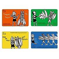 贴纸堂 Shinzi Katoh IC卡信息保护贴纸 4张一套 ULTRA MONSTERS