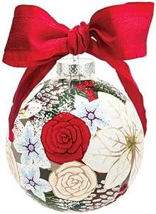 Santa Barbara Design Studio Lolita 假日瞬间玻璃球装饰 红色,白色 ORN10-5529B
