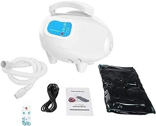 泡泡浴垫浴缸水疗按摩器可调节泡泡设置和臭氧*按摩机带空气软管防水防滑(白色)